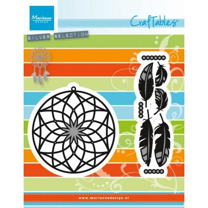 Wykrojnik do wycinania - Marianne Design Craftables CR1373 - Łapacz snów