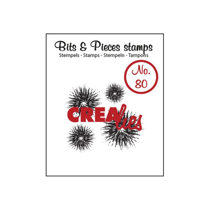 Clear stamp - Ink splashes bold - Crealies - Bits & Pieces no. 80