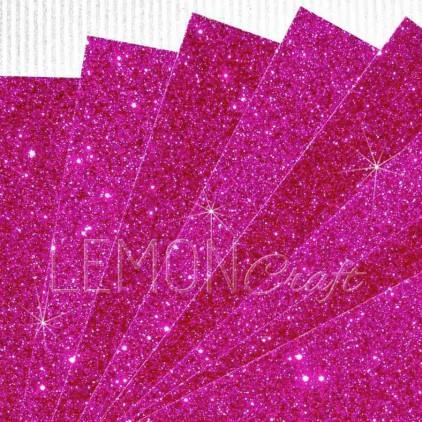 Glitter paper - fuchsia