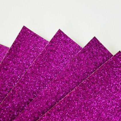 Karton brokatowy - różowo-fioletowy