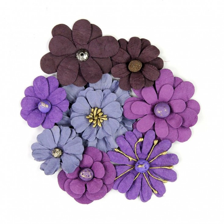 Paper flower set - Little Birdie - Symphony Flowers Plum