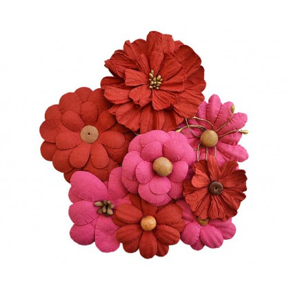 Paper flower set - Little Birdie - Symphony Flower Cerise Pink