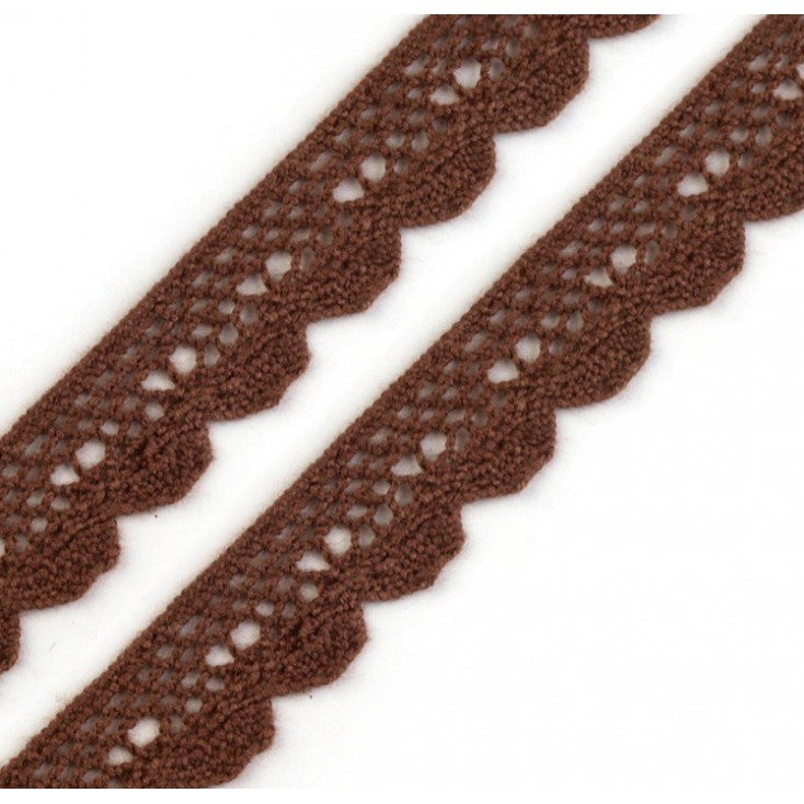 Cotton lace - brown - 1 meter