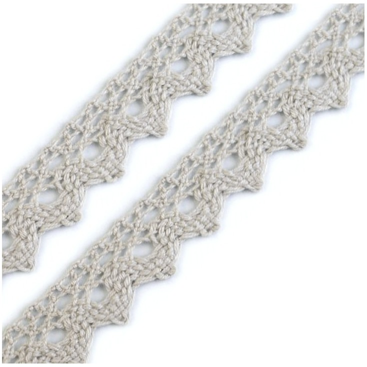 Cotton lace - gray - 1 meter