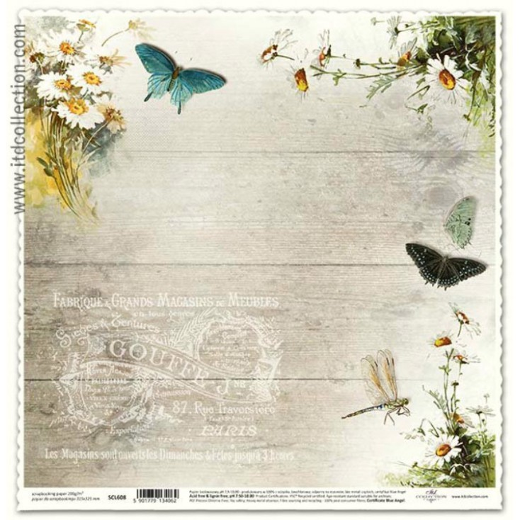 ITD Collection - Papier do scrapbookingu - SCL608