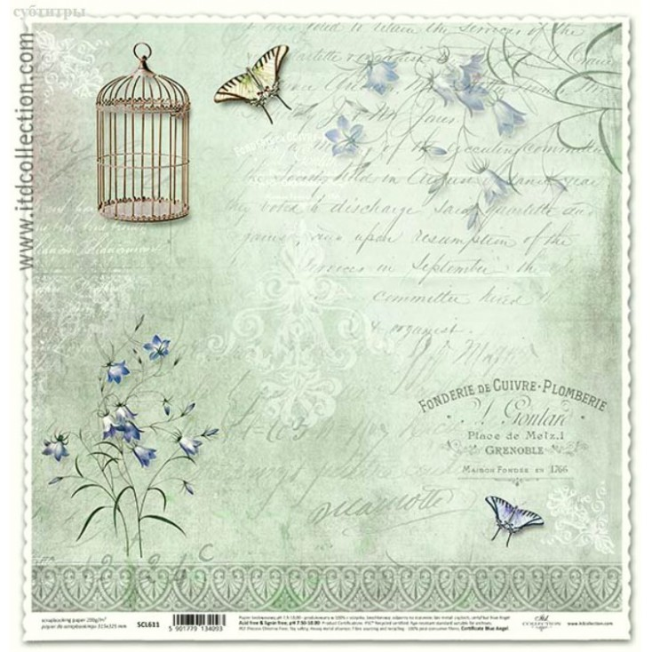 ITD Collection - Papier do scrapbookingu - SCL611
