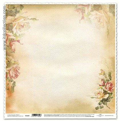 Scrapbooking paper vintage roses - ITD Collection SCL622