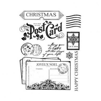 Stemple / pieczątki - Stamperia - Świąteczne kartki pocztowe