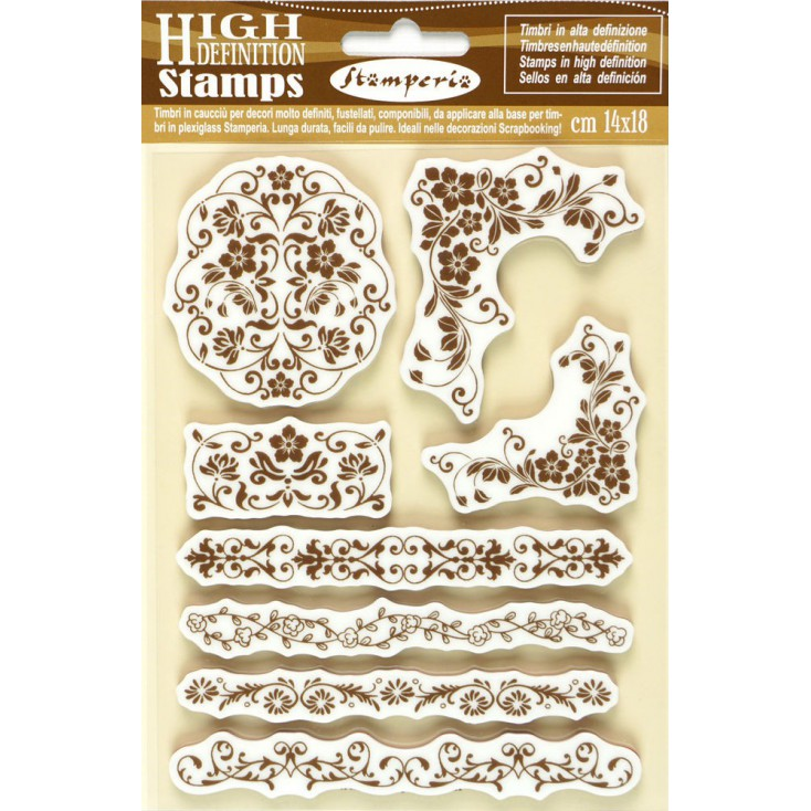 Set of clear stamps - Stamperia - Ornaments