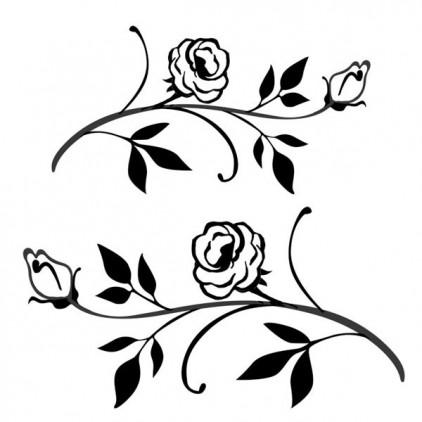 Stemple / pieczątki akrylowe - Stamperia - Kwiatowe gałązki
