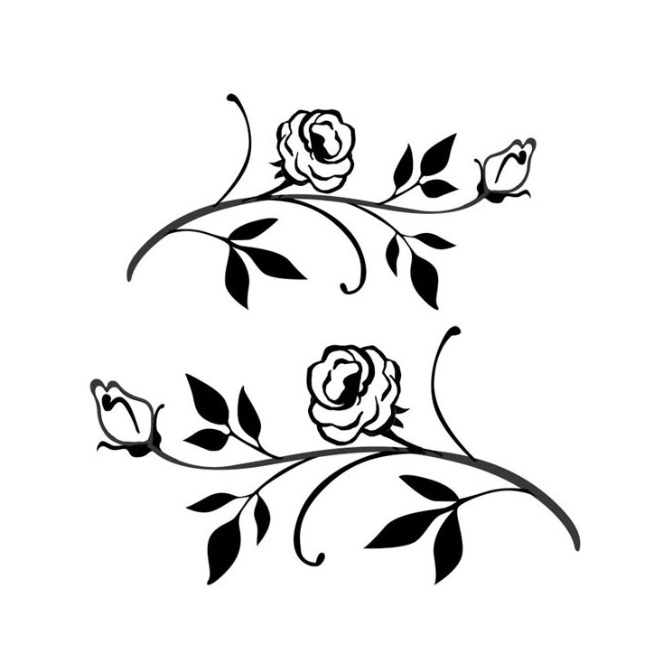 Set of clear stamps - Stamperia - Branch in flower