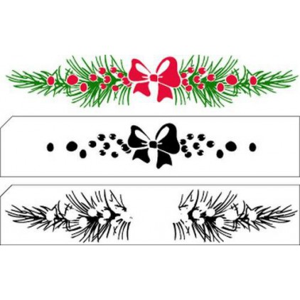 Set of clear layered stamps - Nellie`s Choice - Christmas border