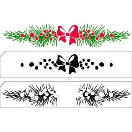 Stemple / pieczątki akrylowe warstwowe - Nellie`s Choice - Świąteczny border