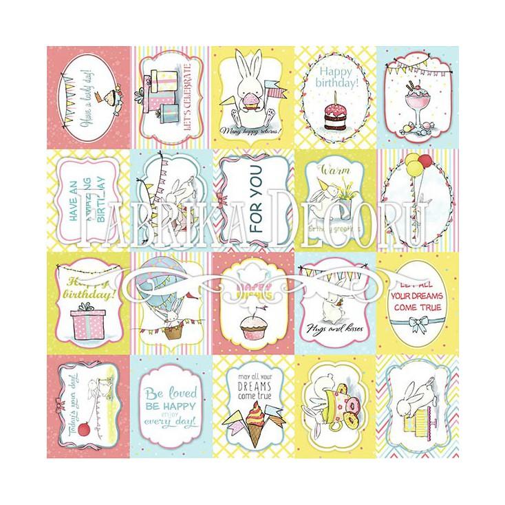 Papier do tworzenia kartek i scrapbookingu - Fabrika Decoru - Birthday Party 02- Obrazki do wycinania