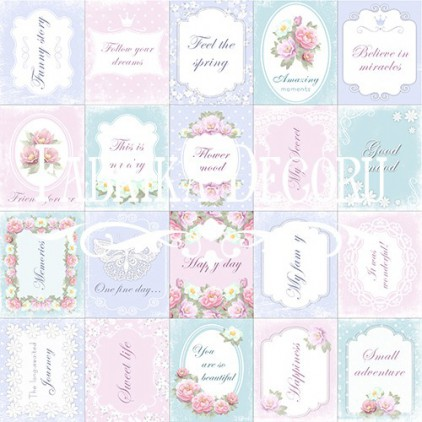 Scrapbooking paper - Fabrika Decoru - Shabby dreams 01 - Pictures for cutting