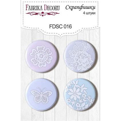 Selfadhesive buttons/badge - Fabrika Decoru - Shabby Dreams