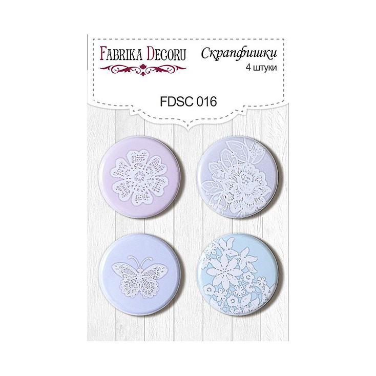 Selfadhesive buttons/badge - Fabrika Decoru - Shabby Dreams