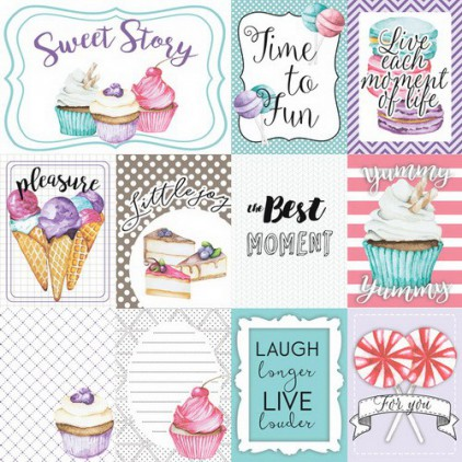 Papier do tworzenia kartek i scrapbookingu - Fabrika Decoru - Candy Shop - Obrazki do wycinania 02