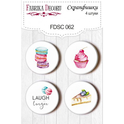 Ozdoby samoprzylepne, buttony - Fabrika Decoru - Candy Shop 062