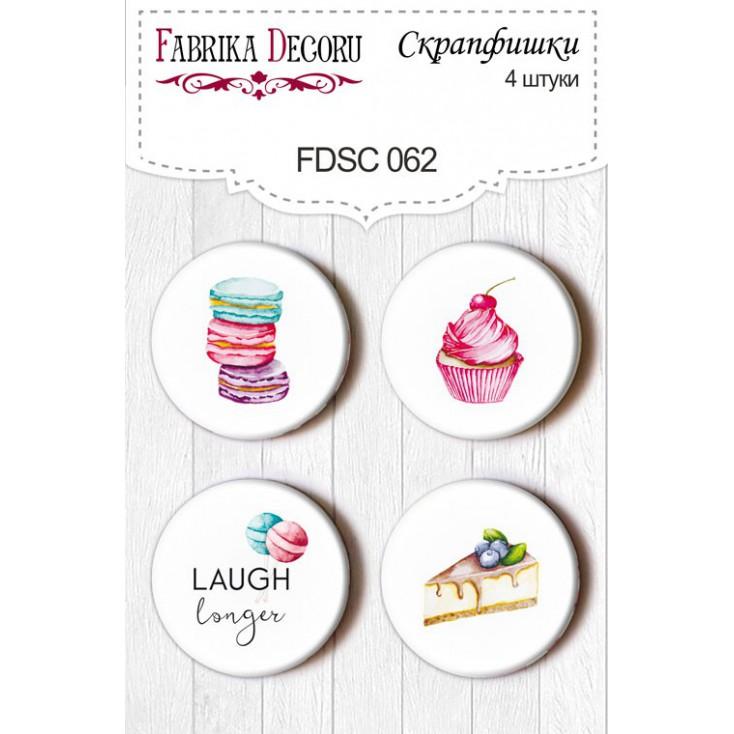 Selfadhesive buttons/badge - Fabrika Decoru - Candy Shop