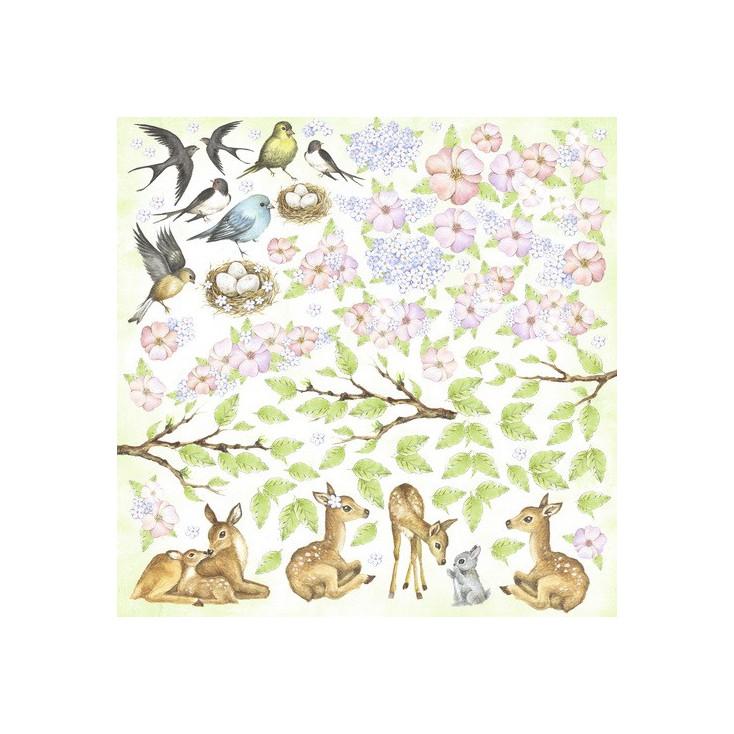 Papier do tworzenia kartek i scrapbookingu - Fabrika Decoru - Uśmiech wiosny -