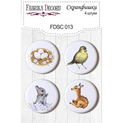 Selfadhesive buttons/badge - Fabrika Decoru -  Smile of Spring 013