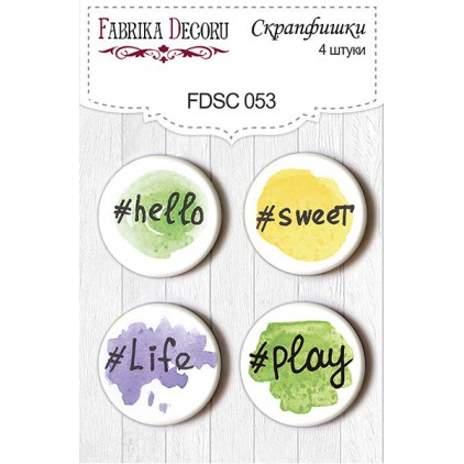 Selfadhesive buttons/badge - Fabrika Decoru