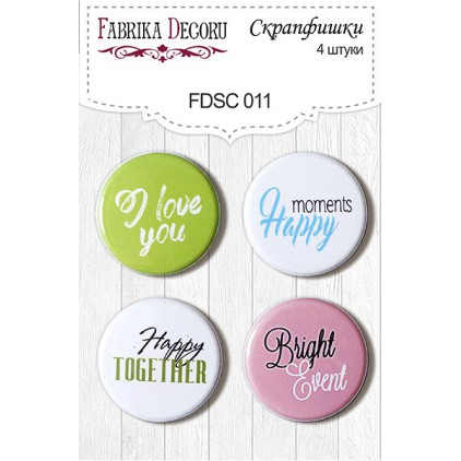 Selfadhesive buttons/badge - Fabrika Decoru 011