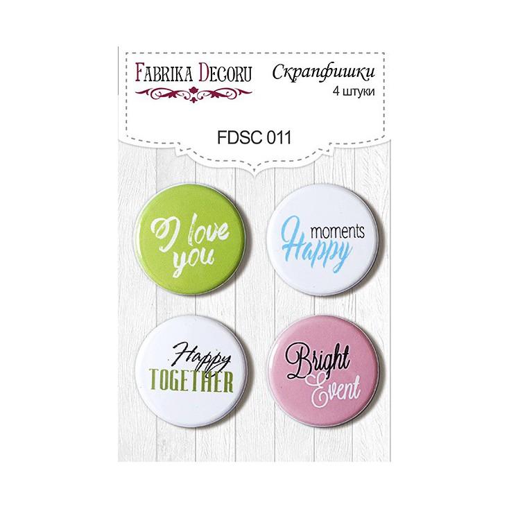 Selfadhesive buttons/badge - Fabrika Decoru