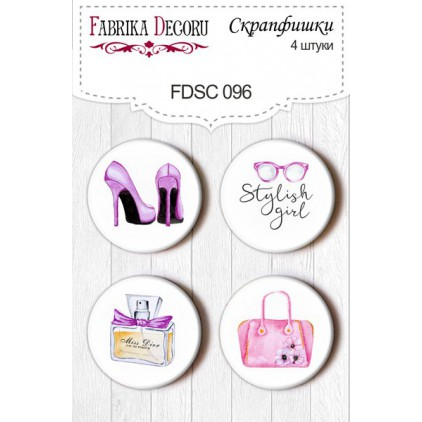 Selfadhesive buttons/badge - Fabrika Decoru - Especialy 096for her