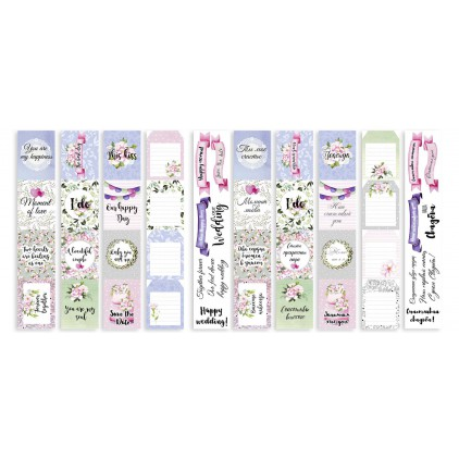 Scrapbooking paper- Fabrika Decoru - Wedding of our dream - Pictures for cutting 4 strips