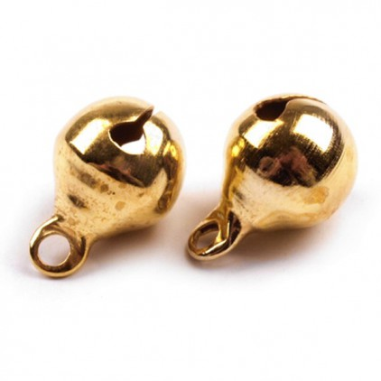 Gold metal bells - 5 pcs