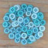 Buttons -Dovecraft - sky - 60 pieces