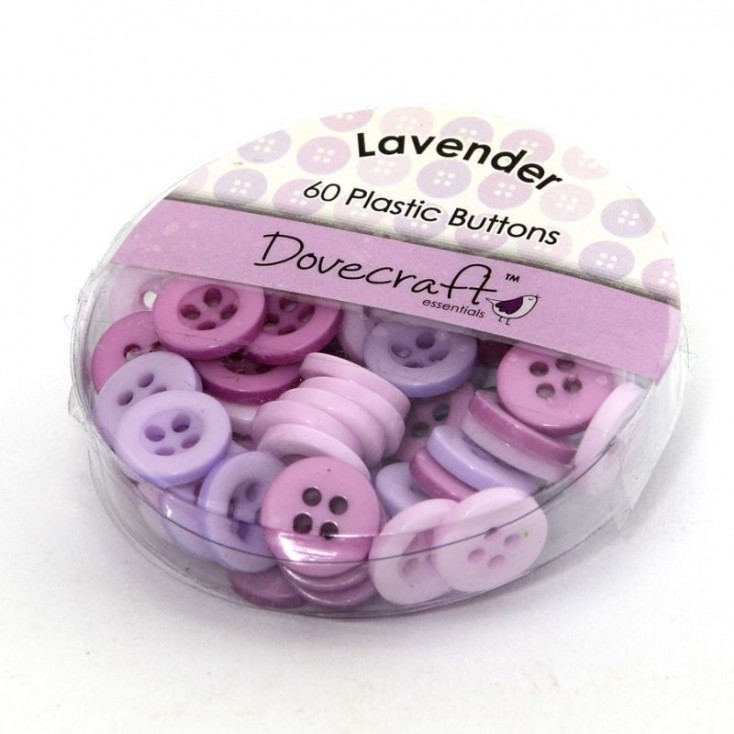 Buttons -Dovecraft - lavender - 60 pieces