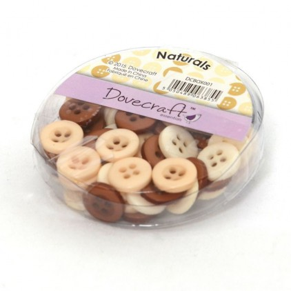 Buttons -Dovecraft - naturals - 60 pieces