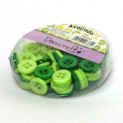 Buttons -Dovecraft - avocado - 60 pieces