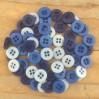 Guziki -Dovecraft - niebieskie - 60 sztuk