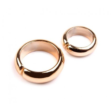 Wedding ring 01 - pair - gold
