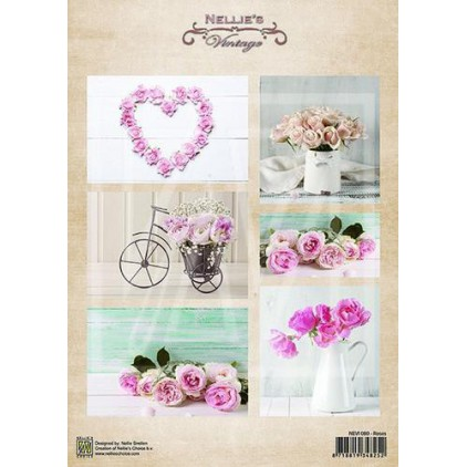 Scrapbooking paper - Nellie's Choice - Roses