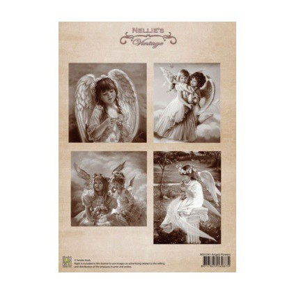 Scrapbooking paper - Nellie's Choice - Angels Flowers