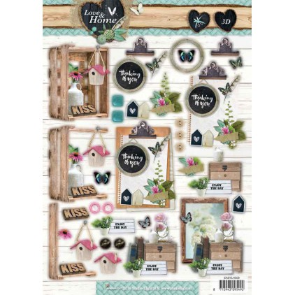 Scrapbooking paper - Studio Light - Love and Home 06 - Die cut sheet A4