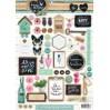 Papier do tworzenia kartek i scrapbookingu - Studio Light - Love and Home 08 - Obrazki do budowania kompozycji