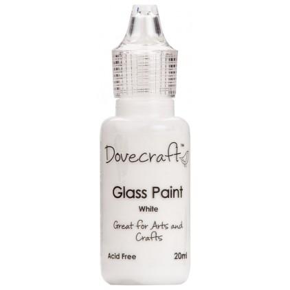 Farbka do malowania na szkle - Dovecraft - biała