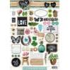 Papier do tworzenia kartek i scrapbookingu - Studio Light - Love and Home 09 - Obrazki do budowania kompozycji