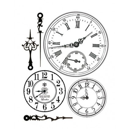 Set of clear stamps - Stamperia - Clock 01
