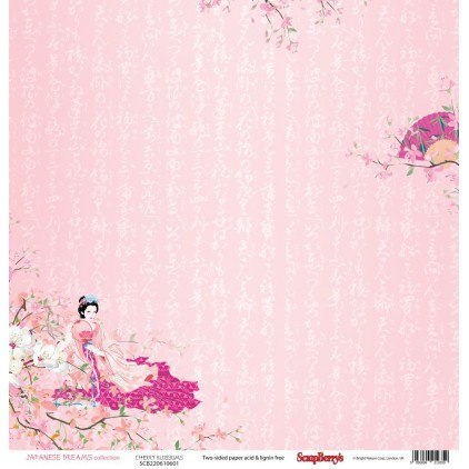Scrapbooking paper - Scrapberry's - Japanese Dreams - Cherry blossoms
