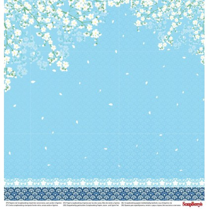 Papier do scrapbookingu – Scrapberry's - Japanese Dreams -Paper cranes