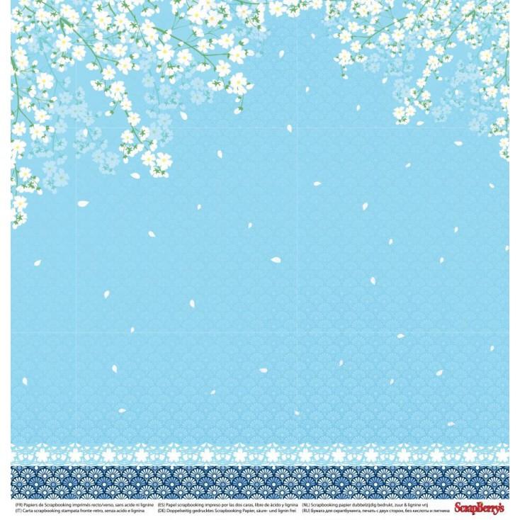 Scrapbooking paper - Scrapberry's - Japanese Dreams - Paper cranes