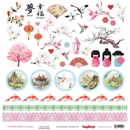 Papier do scrapbookingu – Scrapberry's - Japanese Dreams - Then and now