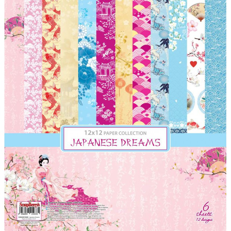 Zestaw papierów do scrapbookingu - ScrapBerry's - Japanese Dreams